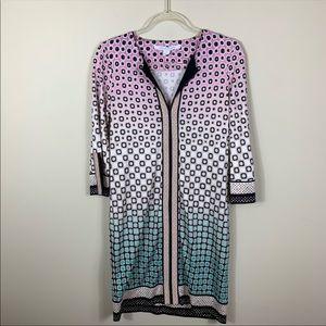 Diane von furstenberg mixed print ombré  dress